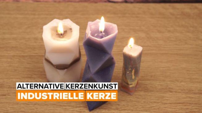 Alternative Kerzenkunst – geometrische Kerze